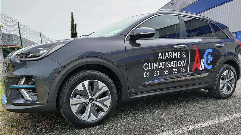 Alarme et climatisation StudioBluelimes